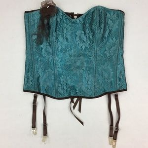 Shirley of Hollywood Corset Women's Size 36 Lace